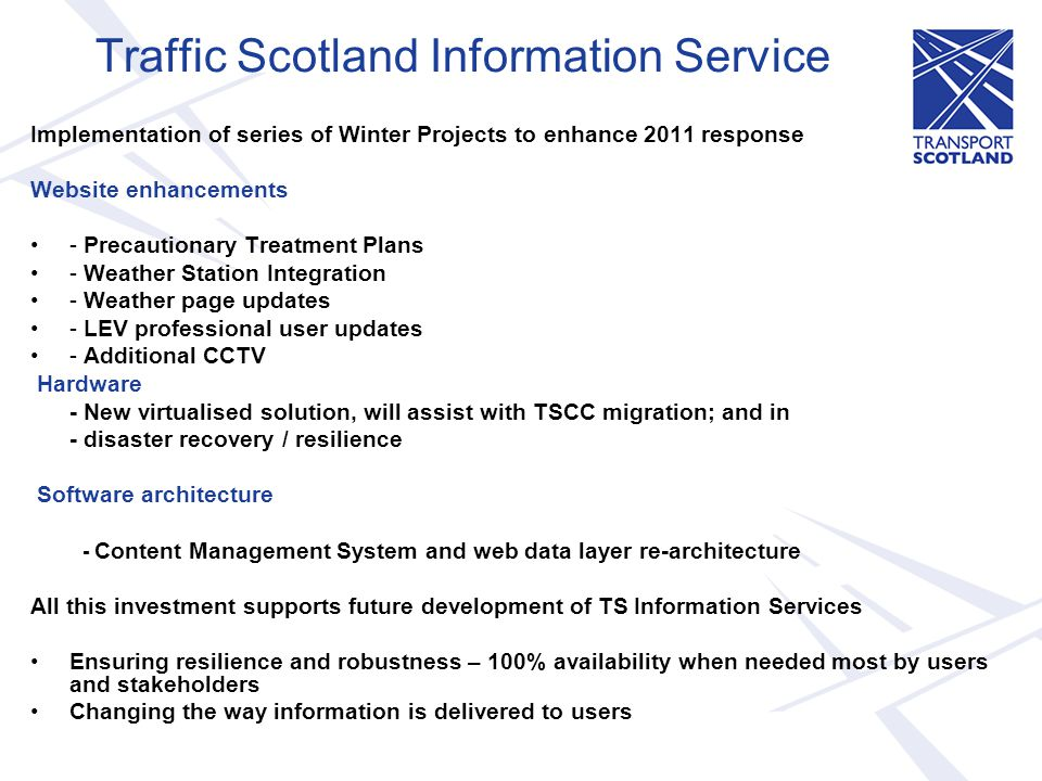 Traffic Scotland Information Service