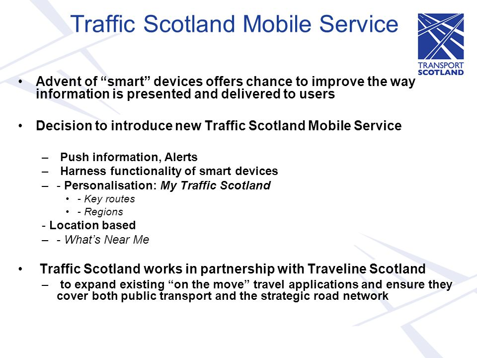 Traffic Scotland Mobile Service