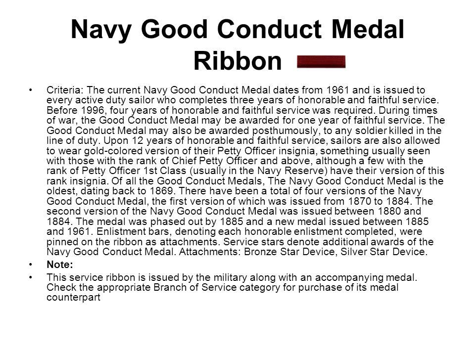 Navy Good Conduct Medal Ribbon