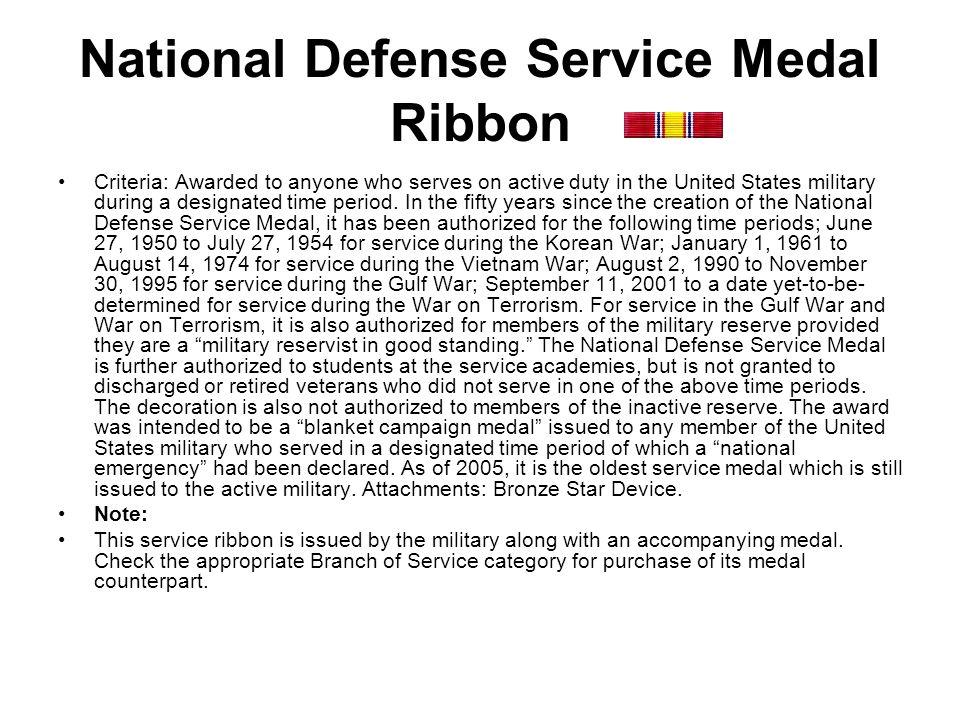National Defense Service Medal Ribbon