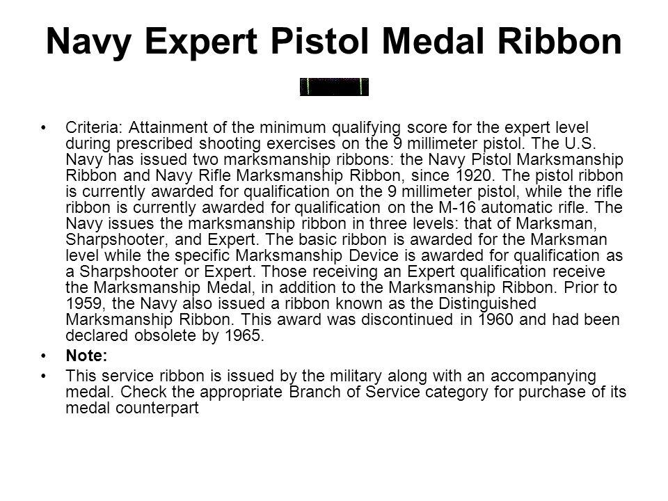 Navy Expert Pistol Medal Ribbon