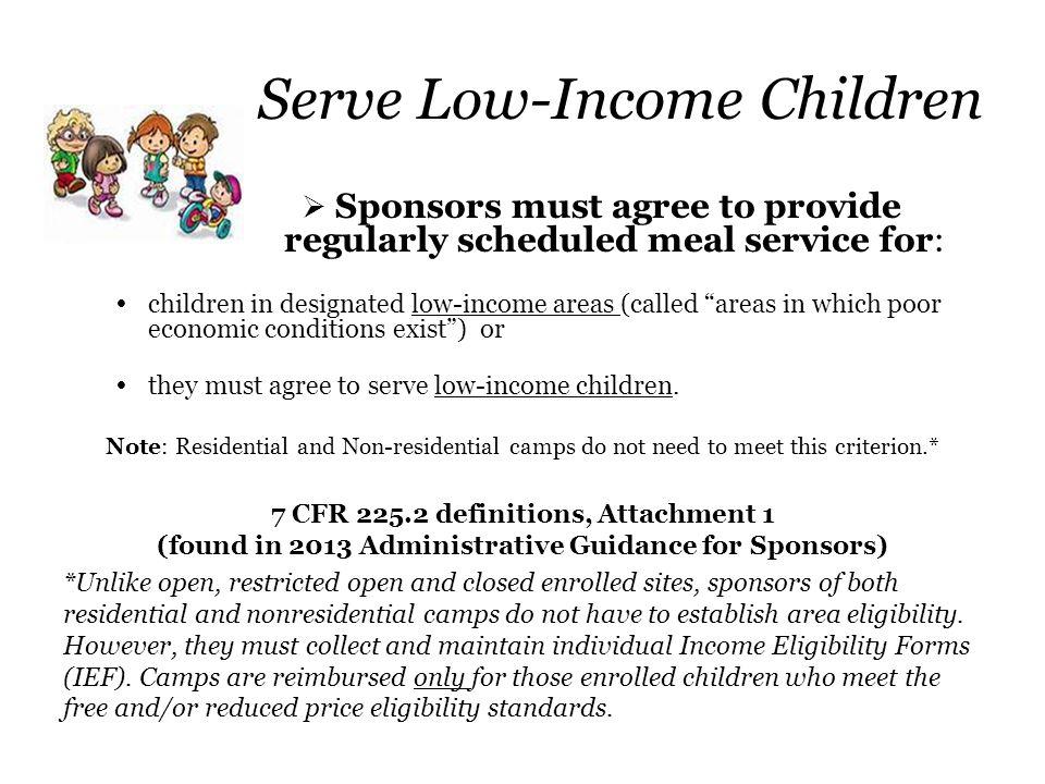 Serve Low-Income Children