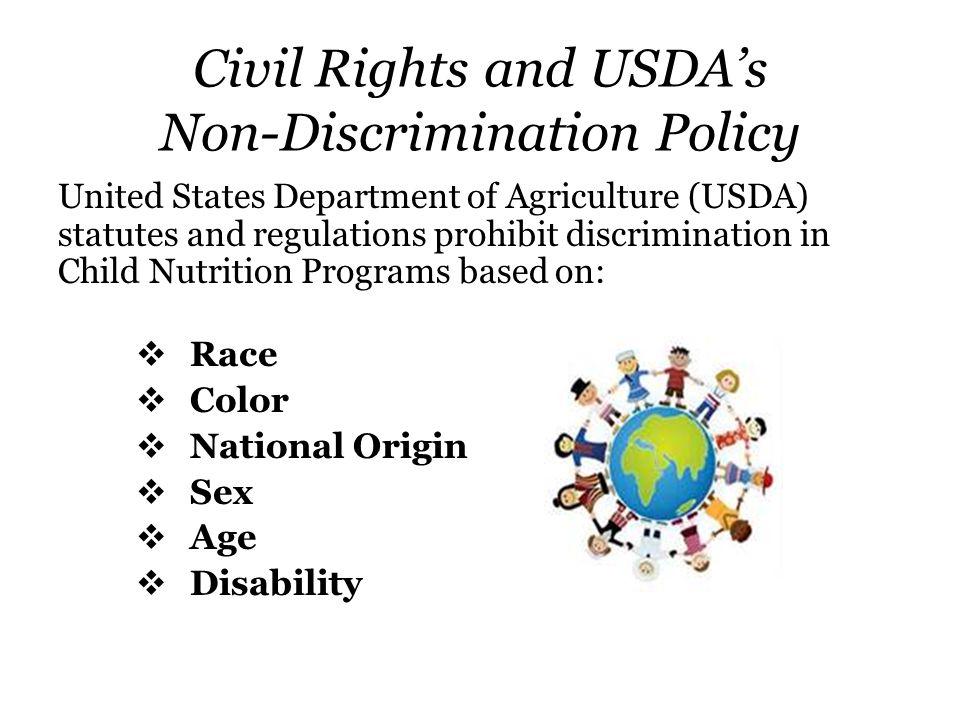 Civil Rights and USDA's Non-Discrimination Policy