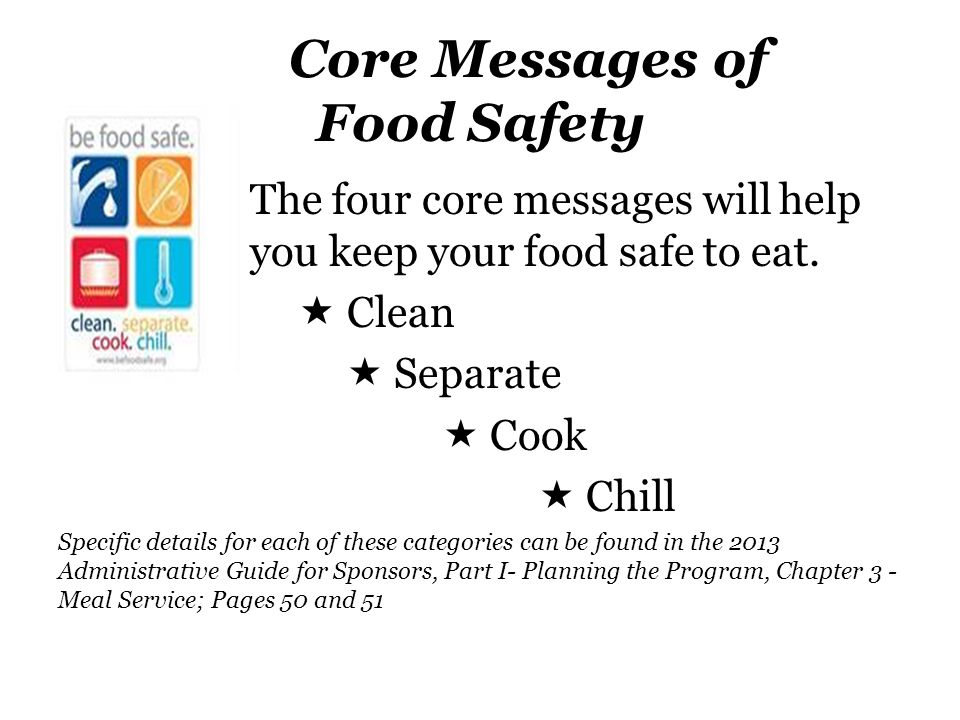Core Messages of Food Safety