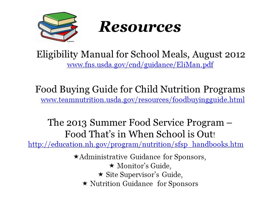 Summer Food Service Program Webinar Training March 13, ppt ...