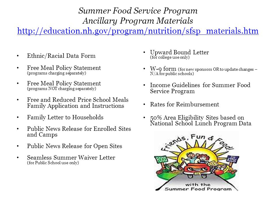 Summer Food Service Program Webinar Training March 13 Ppt