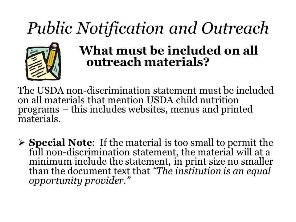 Public Notification and Outreach