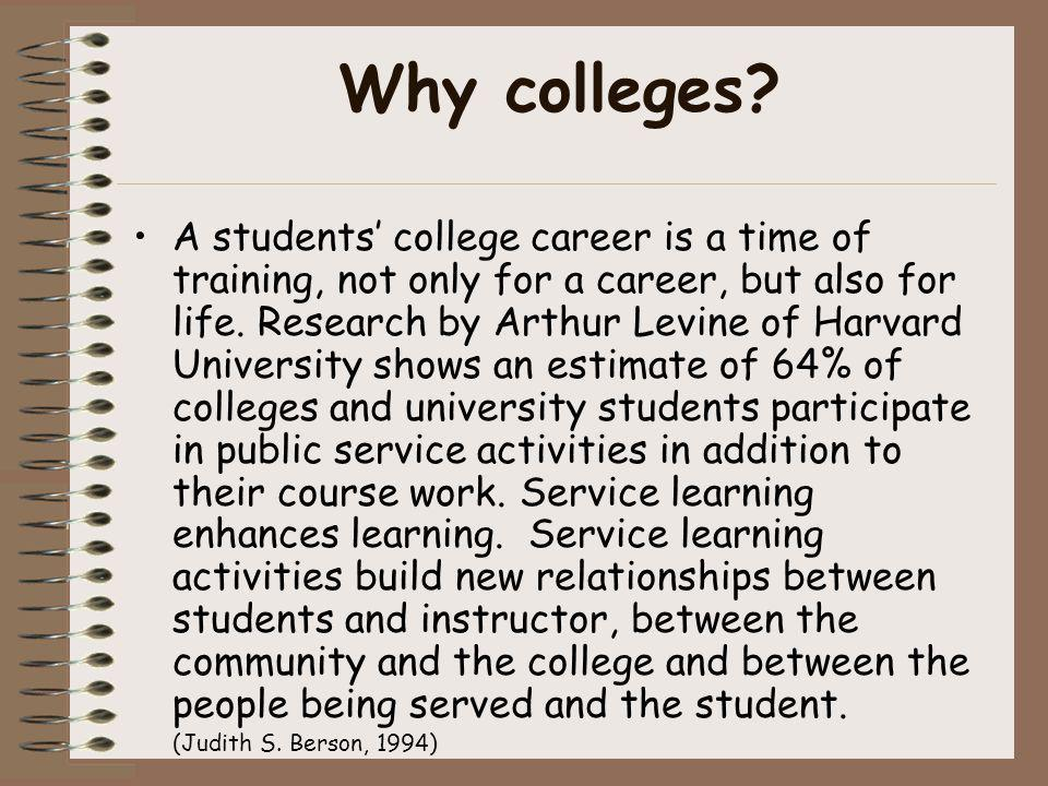 Why colleges