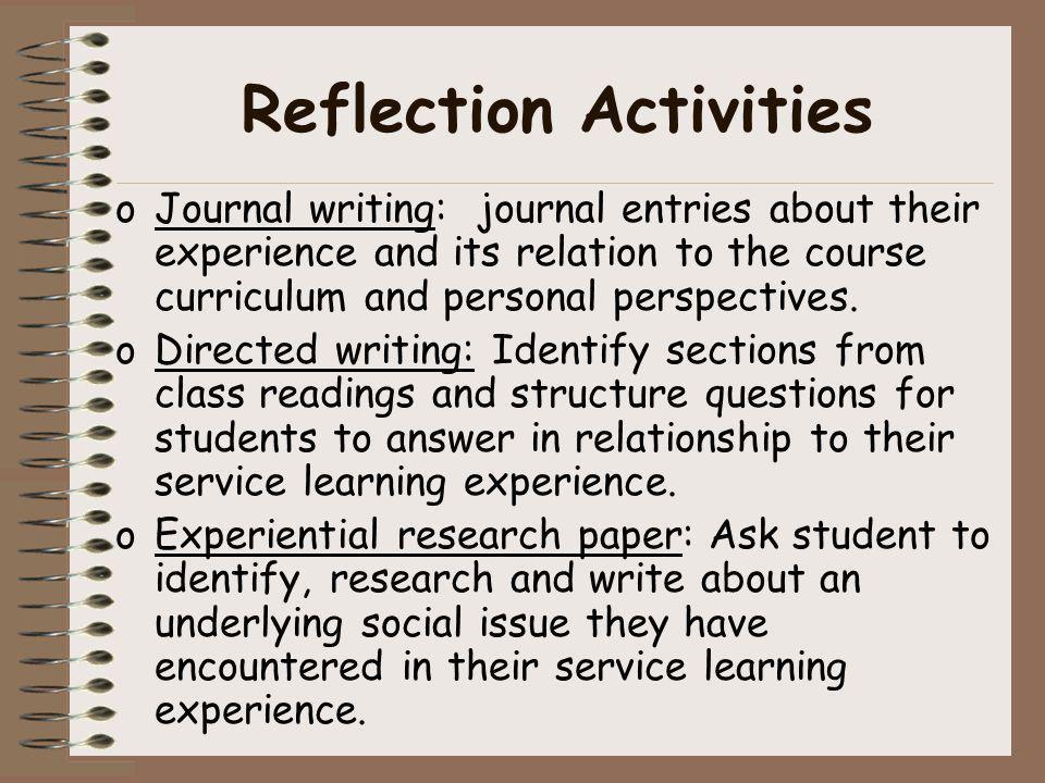 community reflection essay