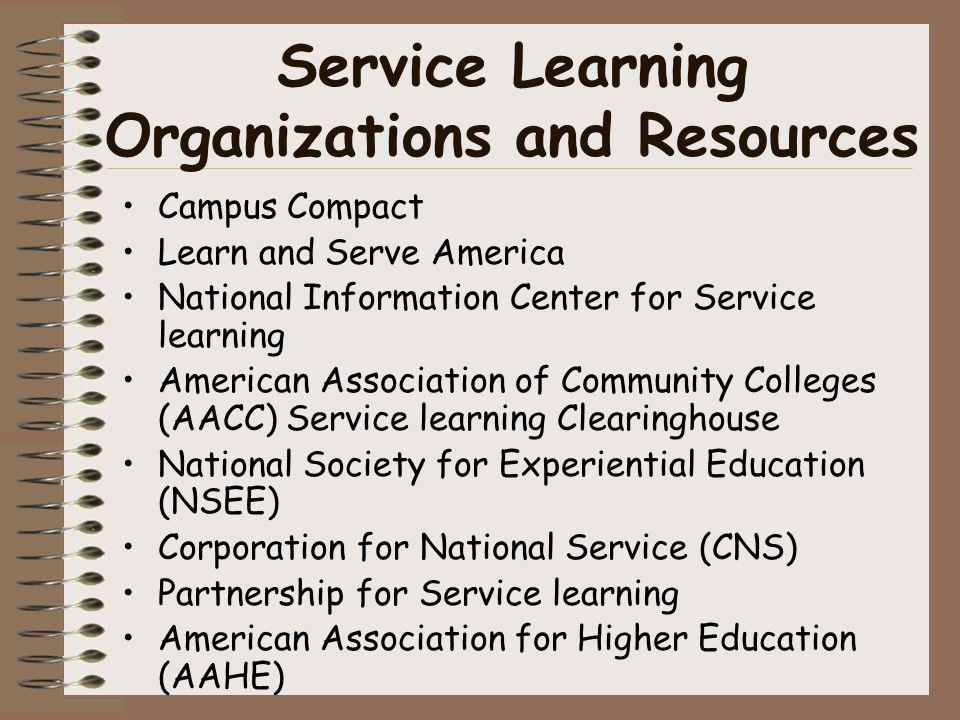 Service Learning Organizations and Resources