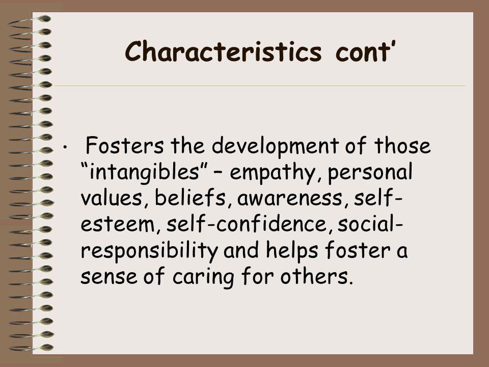 Characteristics cont'