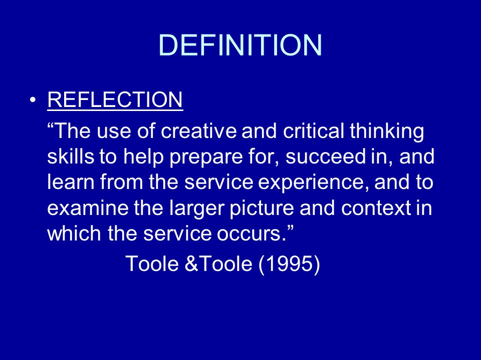 DEFINITION REFLECTION