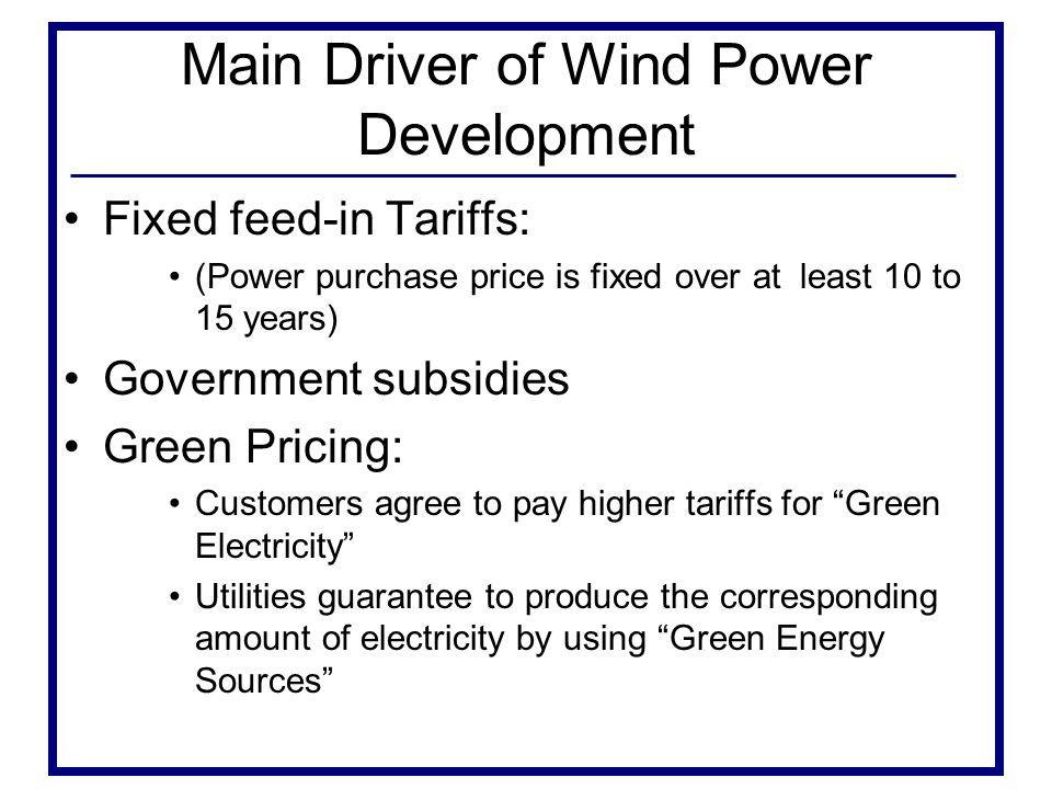 Main Driver of Wind Power Development