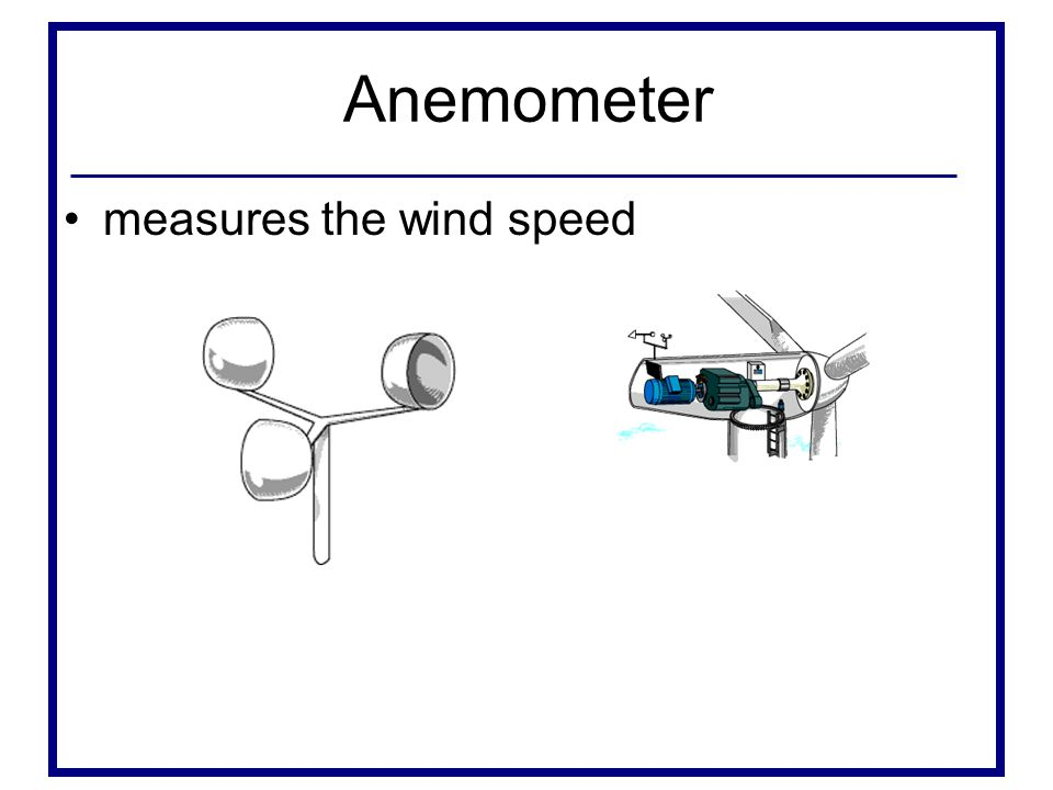 Anemometer measures the wind speed