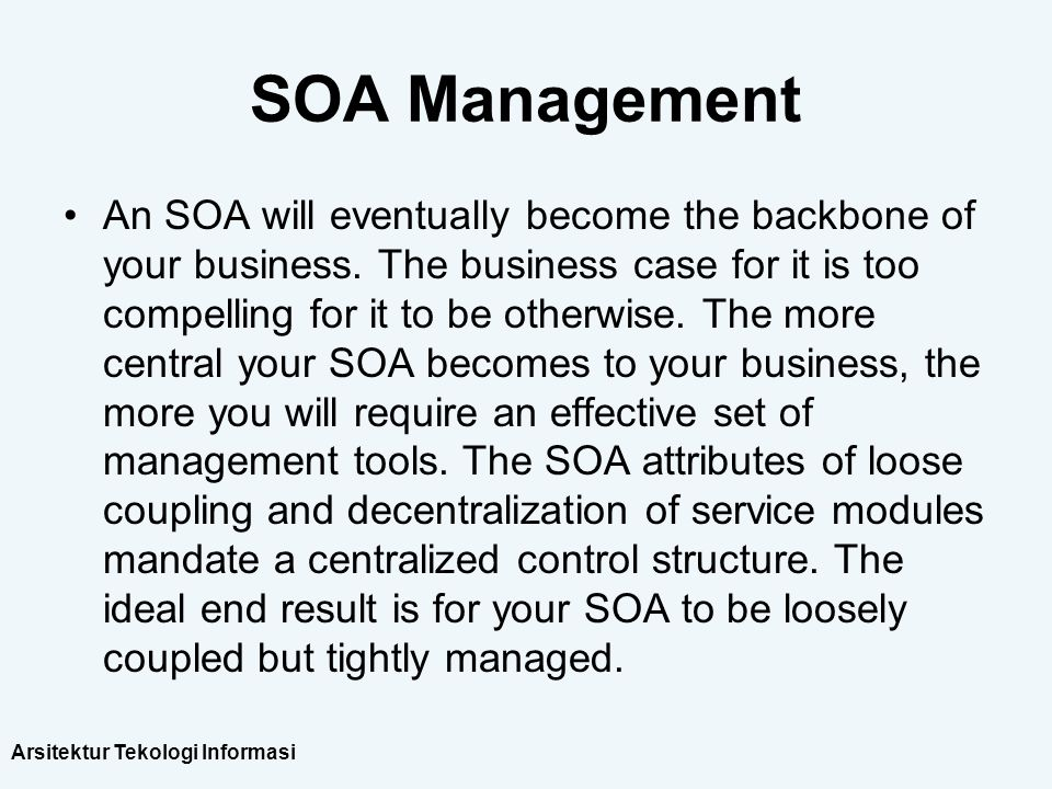 SOA Management