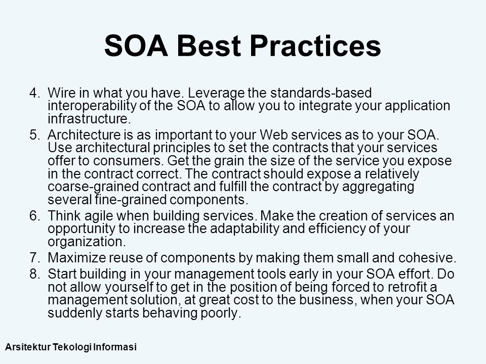 SOA Best Practices