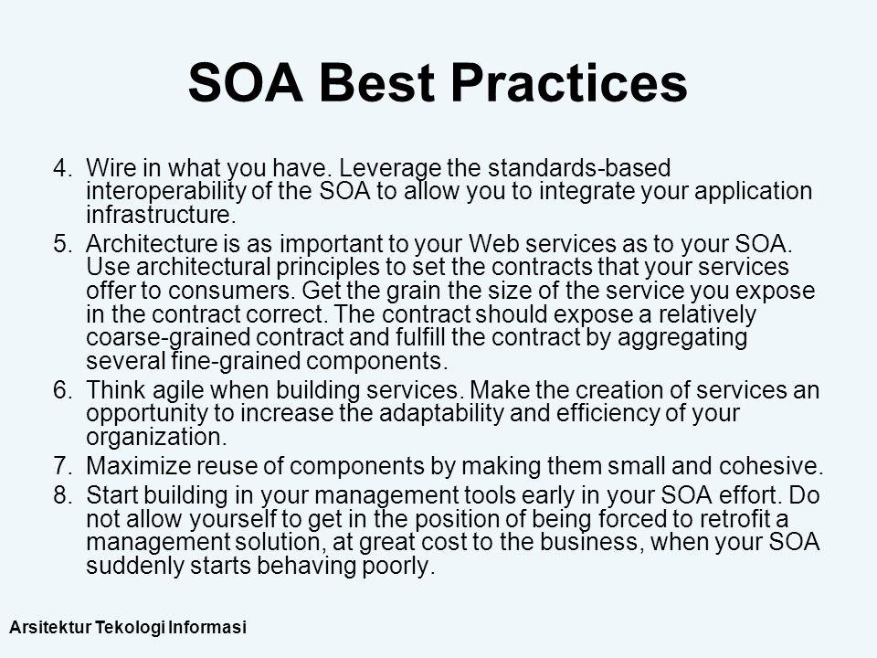 SOA Best Practices