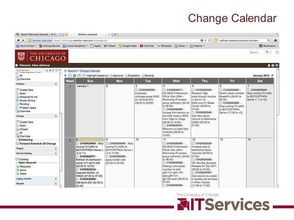 Change Calendar