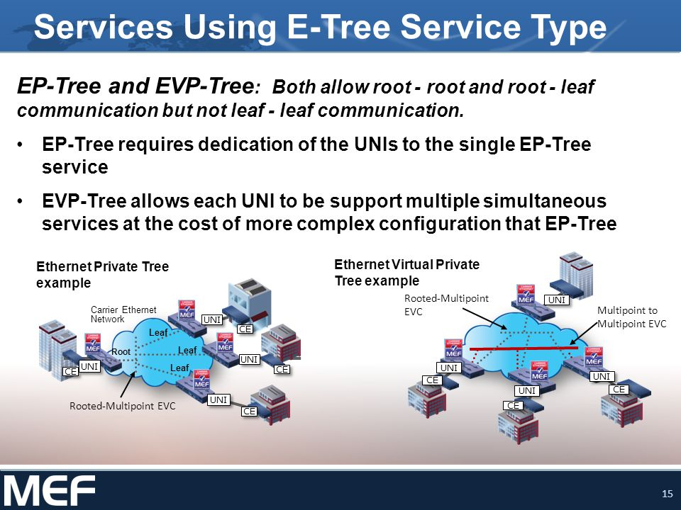 Services Using E-Tree Service Type