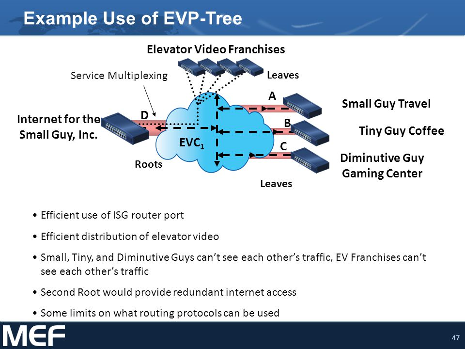Example Use of EVP-Tree