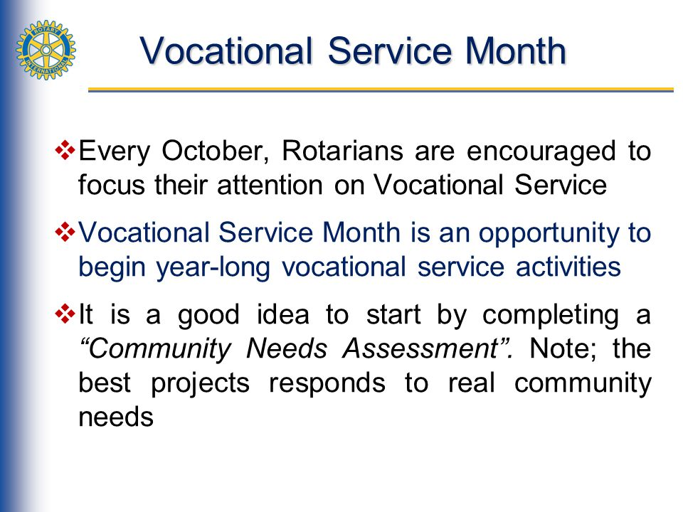 Vocational Service Month