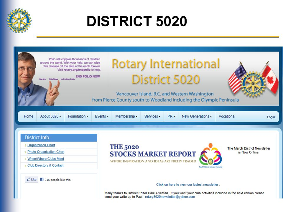 DISTRICT 5020