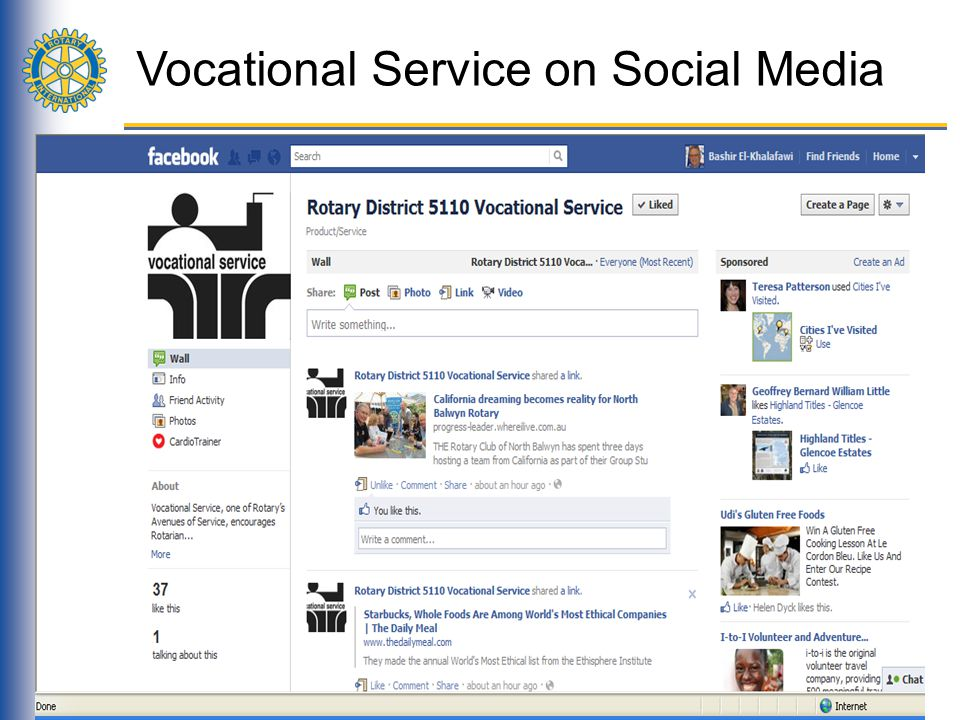 Vocational Service on Social Media