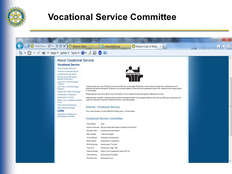 Vocational Service Committee