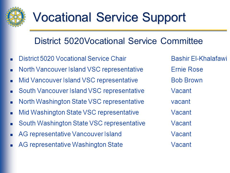 Vocational Service Support