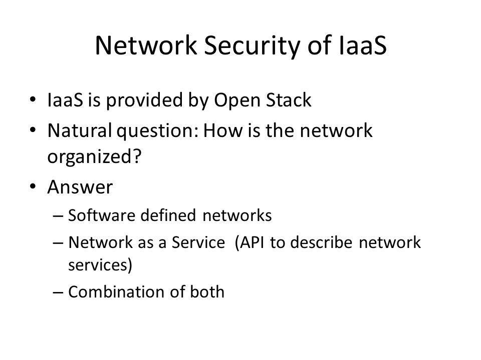 Network Security of IaaS
