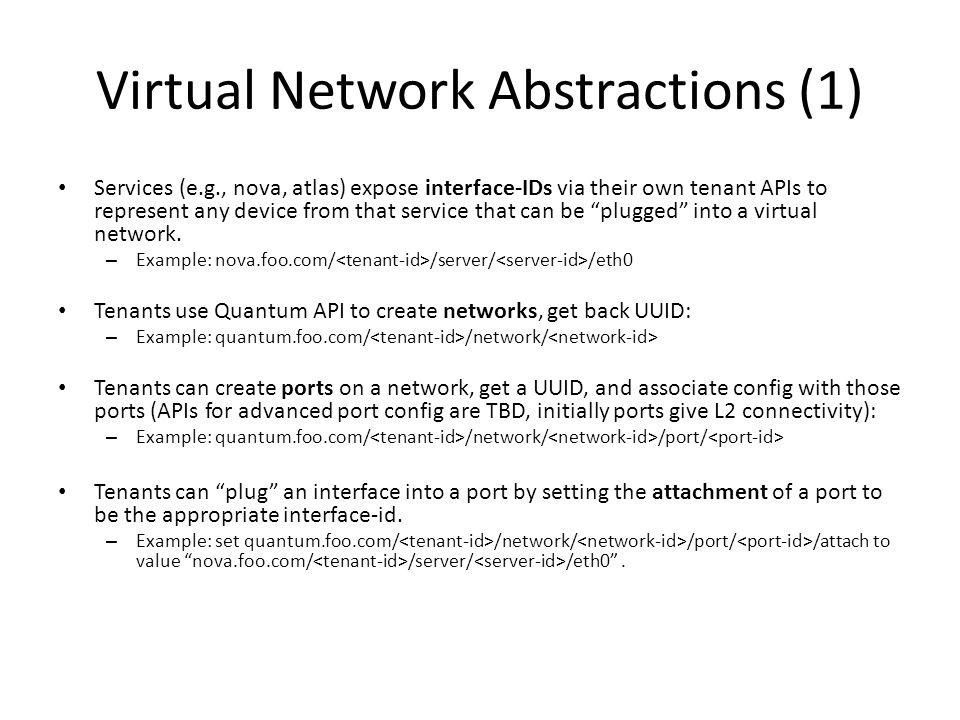 Virtual Network Abstractions (1)