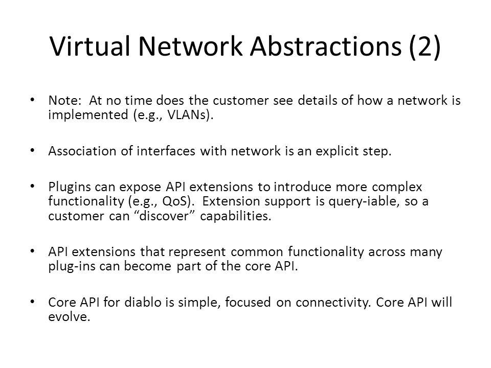 Virtual Network Abstractions (2)