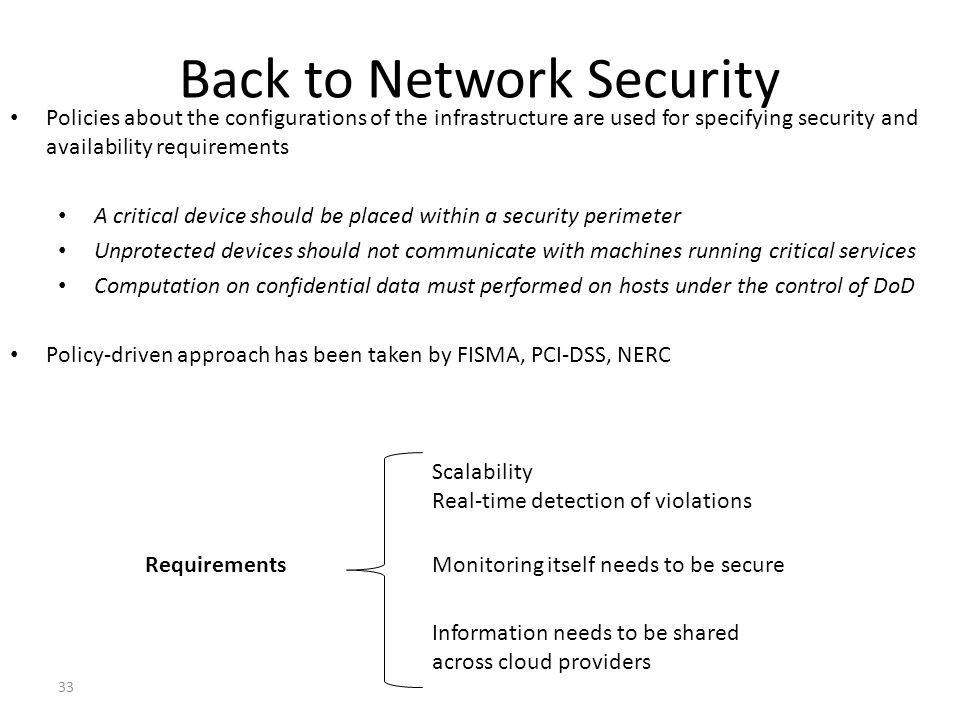 Back to Network Security