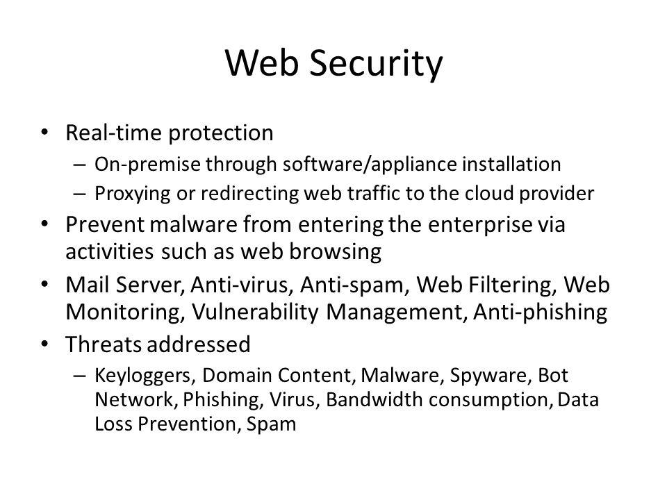 Web Security Real-time protection
