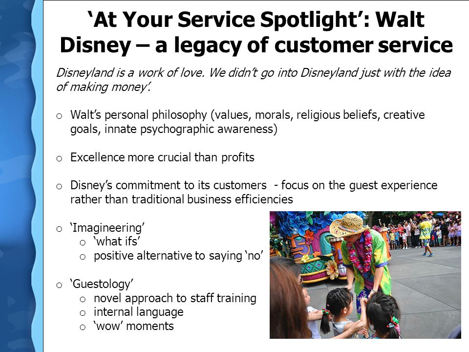 'At Your Service Spotlight': Walt Disney – a legacy of customer service