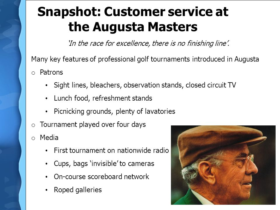 Snapshot: Customer service at the Augusta Masters