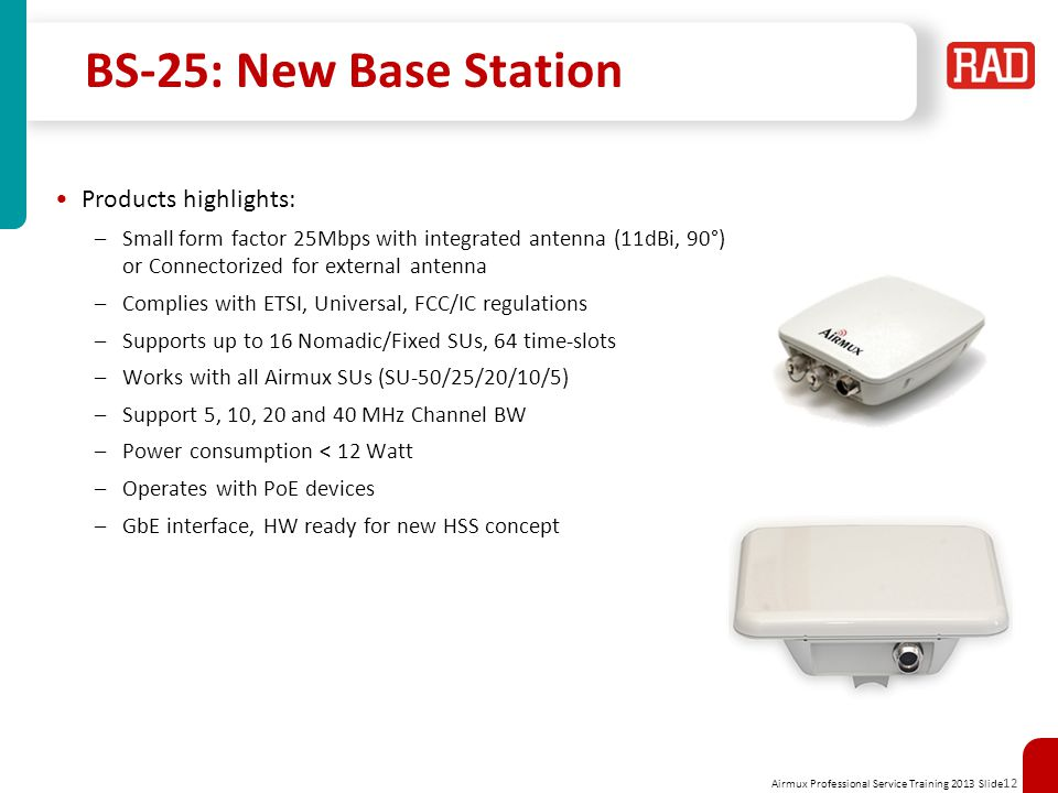 BS-25: New Base Station Products highlights: