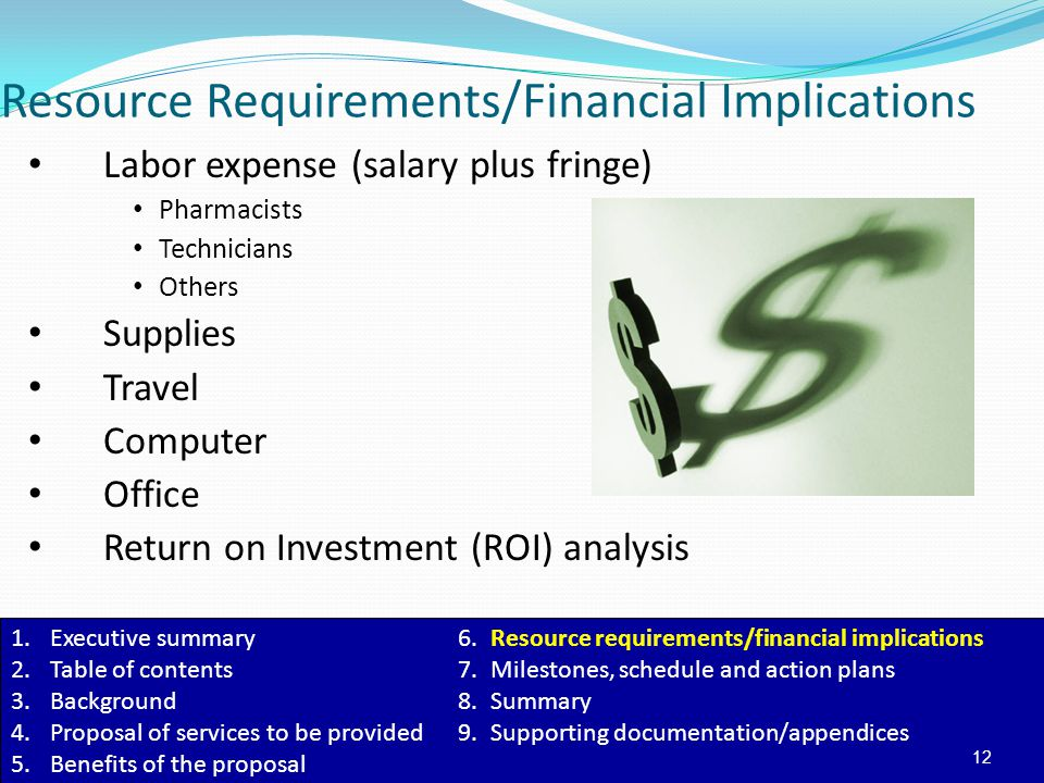 Resource Requirements/Financial Implications