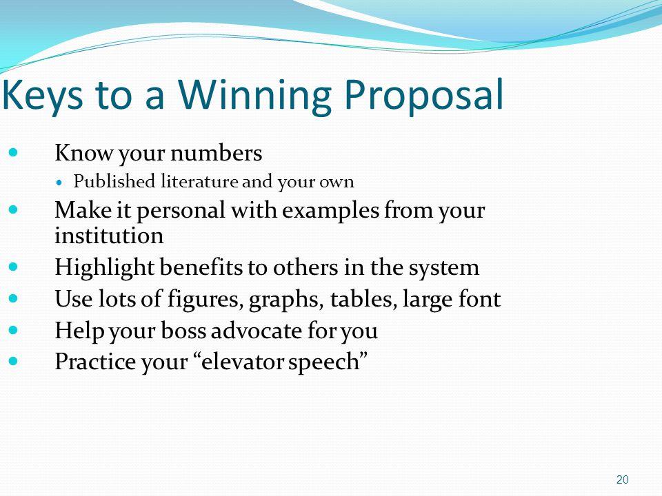 Keys to a Winning Proposal