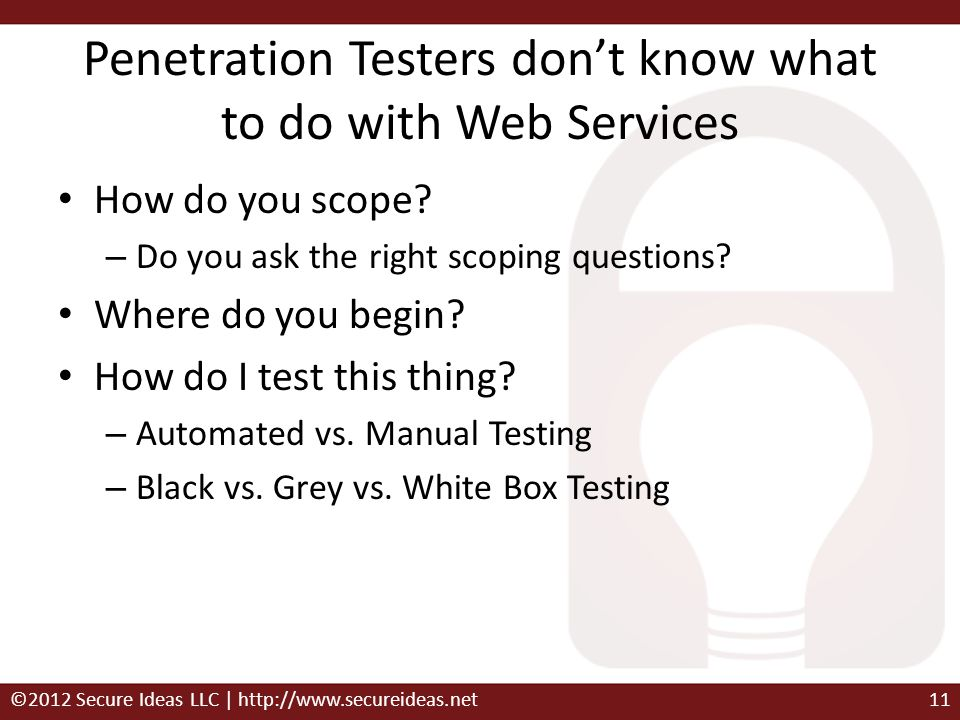 Penetration Testers don't know what to do with Web Services