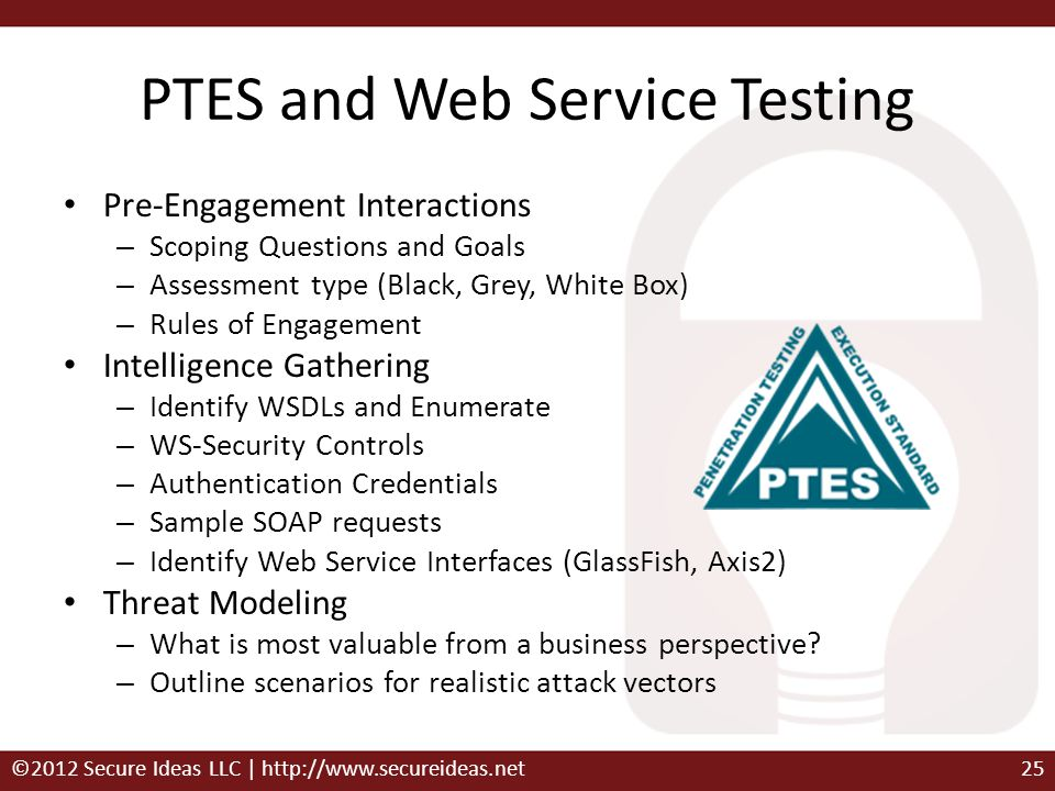 PTES and Web Service Testing