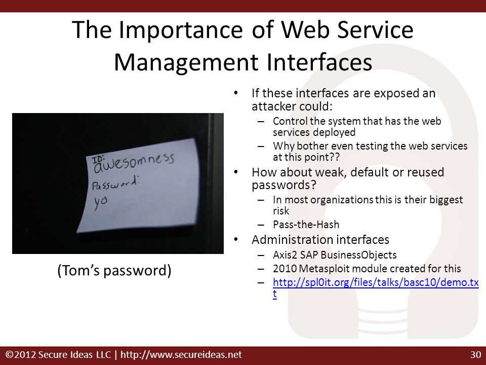 The Importance of Web Service Management Interfaces