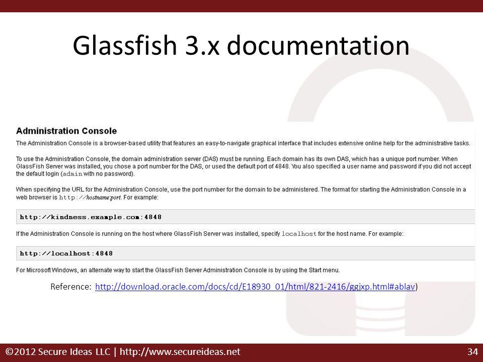 Glassfish 3.x documentation