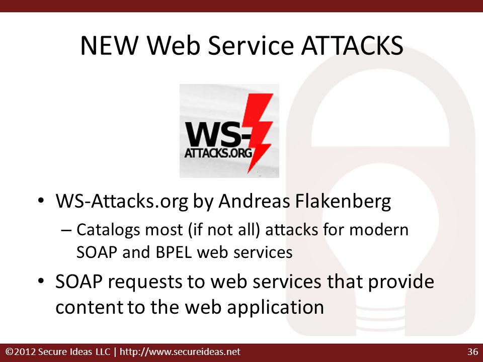 NEW Web Service ATTACKS