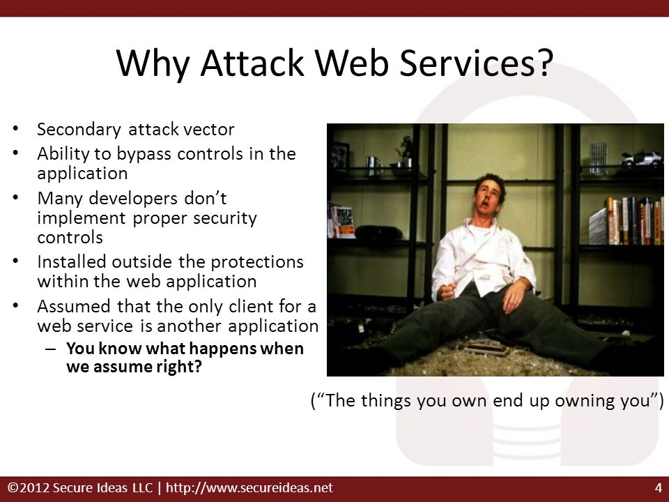 Why Attack Web Services
