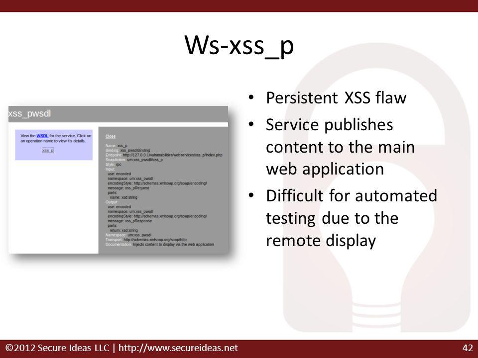 Ws-xss_p Persistent XSS flaw