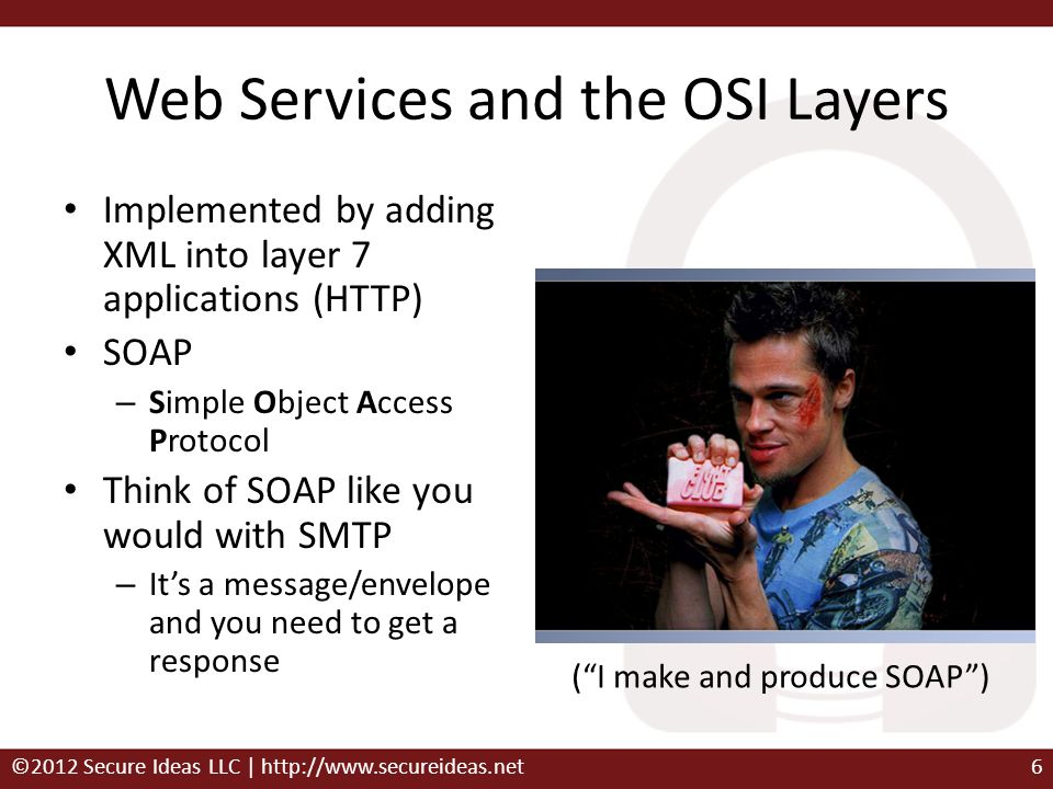 Web Services and the OSI Layers