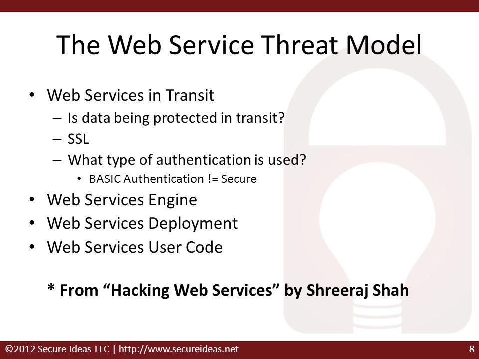 The Web Service Threat Model