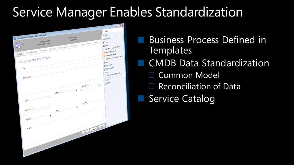 Service Manager Enables Standardization