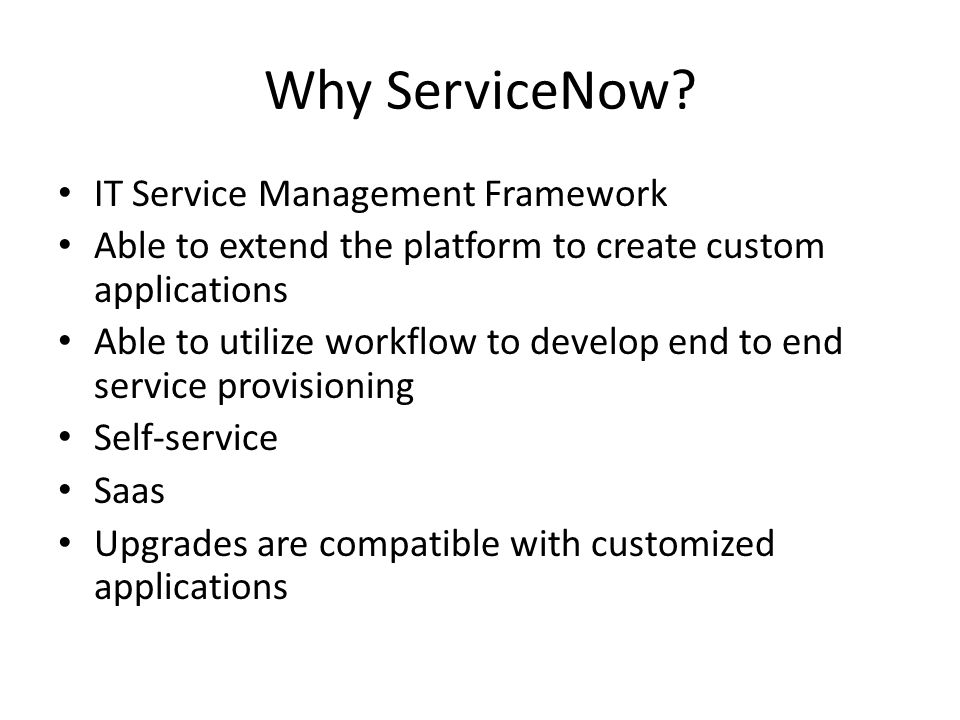 Why ServiceNow IT Service Management Framework